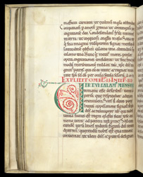 A Decorated Letter, in Gregory the Great's 'Homilies on Ezekiel' f.30v
